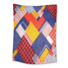 Background Fabric Multicolored Patterns Medium Tapestry