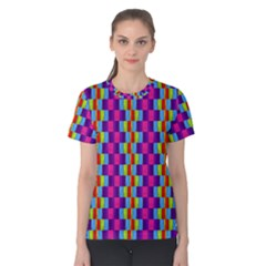 Background For Scrapbooking Or Other Patterned Wood Women s Cotton Tee