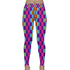 Background For Scrapbooking Or Other Patterned Wood Classic Yoga Leggings
