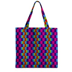 Background For Scrapbooking Or Other Patterned Wood Zipper Grocery Tote Bag