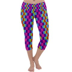 Background For Scrapbooking Or Other Patterned Wood Capri Yoga Leggings