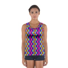 Background For Scrapbooking Or Other Patterned Wood Women s Sport Tank Top