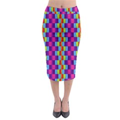 Background For Scrapbooking Or Other Patterned Wood Midi Pencil Skirt