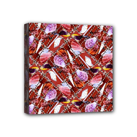 Background For Scrapbooking Or Other Shellfish Grounds Mini Canvas 4  x 4
