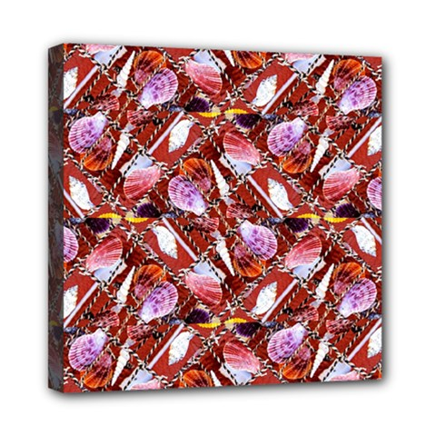 Background For Scrapbooking Or Other Shellfish Grounds Mini Canvas 8  x 8
