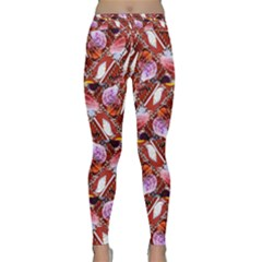 Background For Scrapbooking Or Other Shellfish Grounds Classic Yoga Leggings