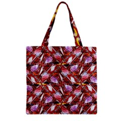 Background For Scrapbooking Or Other Shellfish Grounds Zipper Grocery Tote Bag
