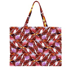 Background For Scrapbooking Or Other Shellfish Grounds Zipper Large Tote Bag