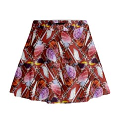 Background For Scrapbooking Or Other Shellfish Grounds Mini Flare Skirt