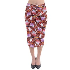 Background For Scrapbooking Or Other Shellfish Grounds Midi Pencil Skirt