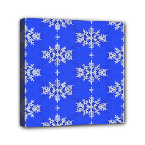 Background For Scrapbooking Or Other Snowflakes Patterns Mini Canvas 6  x 6