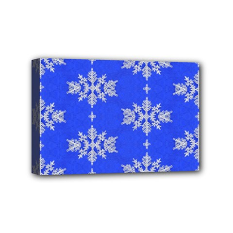 Background For Scrapbooking Or Other Snowflakes Patterns Mini Canvas 6  x 4