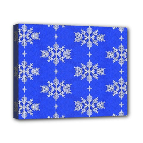 Background For Scrapbooking Or Other Snowflakes Patterns Canvas 10  x 8
