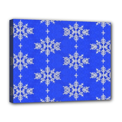 Background For Scrapbooking Or Other Snowflakes Patterns Canvas 14  x 11