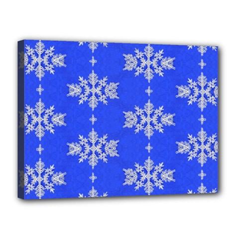 Background For Scrapbooking Or Other Snowflakes Patterns Canvas 16  x 12