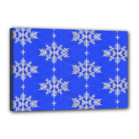 Background For Scrapbooking Or Other Snowflakes Patterns Canvas 18  x 12