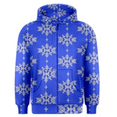 Background For Scrapbooking Or Other Snowflakes Patterns Men s Zipper Hoodie