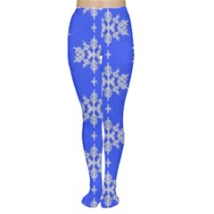 Background For Scrapbooking Or Other Snowflakes Patterns Women s Tights