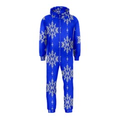 Background For Scrapbooking Or Other Snowflakes Patterns Hooded Jumpsuit (kids)