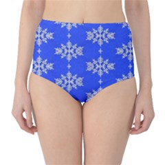 Background For Scrapbooking Or Other Snowflakes Patterns High Waist Bikini Bottoms