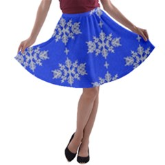Background For Scrapbooking Or Other Snowflakes Patterns A-line Skater Skirt