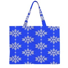 Background For Scrapbooking Or Other Snowflakes Patterns Large Tote Bag