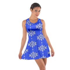 Background For Scrapbooking Or Other Snowflakes Patterns Cotton Racerback Dress