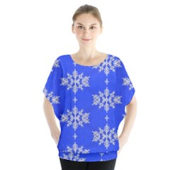 Background For Scrapbooking Or Other Snowflakes Patterns Blouse