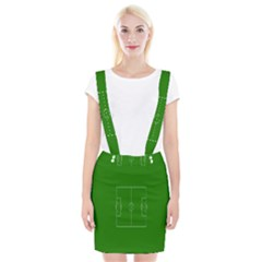 Soccer Field Football Sport Green Suspender Skirt
