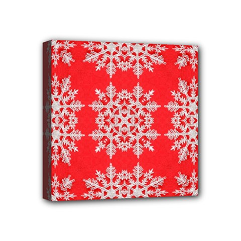 Background For Scrapbooking Or Other Stylized Snowflakes Mini Canvas 4  x 4