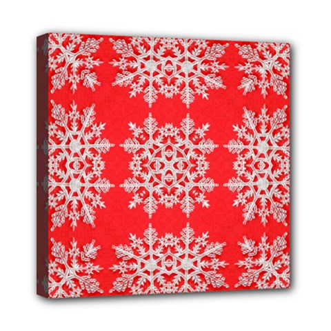 Background For Scrapbooking Or Other Stylized Snowflakes Mini Canvas 8  x 8