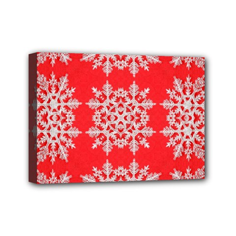 Background For Scrapbooking Or Other Stylized Snowflakes Mini Canvas 7  x 5