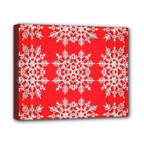 Background For Scrapbooking Or Other Stylized Snowflakes Canvas 10  x 8