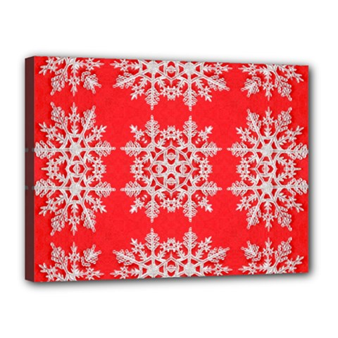 Background For Scrapbooking Or Other Stylized Snowflakes Canvas 16  x 12