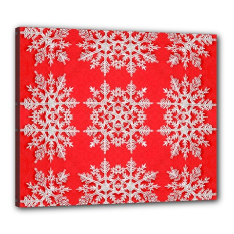 Background For Scrapbooking Or Other Stylized Snowflakes Canvas 24  x 20