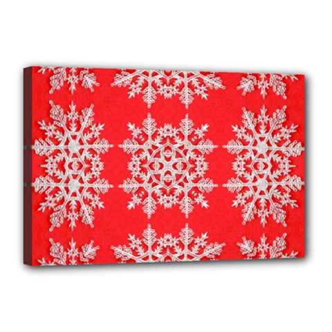 Background For Scrapbooking Or Other Stylized Snowflakes Canvas 18  X 12