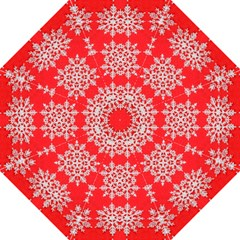 Background For Scrapbooking Or Other Stylized Snowflakes Folding Umbrellas