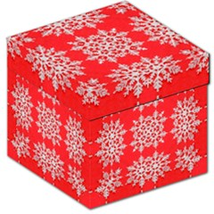 Background For Scrapbooking Or Other Stylized Snowflakes Storage Stool 12