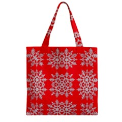 Background For Scrapbooking Or Other Stylized Snowflakes Zipper Grocery Tote Bag