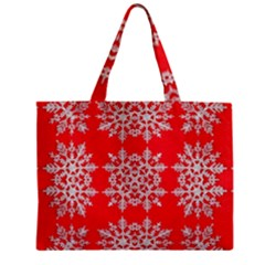 Background For Scrapbooking Or Other Stylized Snowflakes Zipper Mini Tote Bag