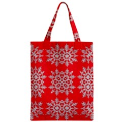 Background For Scrapbooking Or Other Stylized Snowflakes Zipper Classic Tote Bag