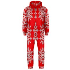 Background For Scrapbooking Or Other Stylized Snowflakes Hooded Jumpsuit (men)