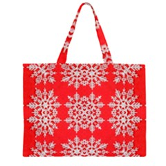 Background For Scrapbooking Or Other Stylized Snowflakes Zipper Large Tote Bag