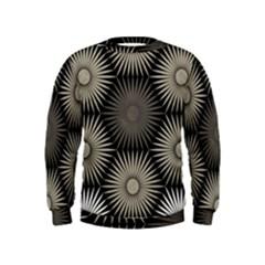 Sunflower Black White Kids  Sweatshirt