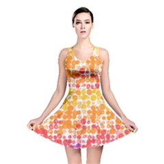 Spots Paint Color Green Yellow Pink Purple Reversible Skater Dress