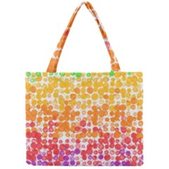 Spots Paint Color Green Yellow Pink Purple Mini Tote Bag