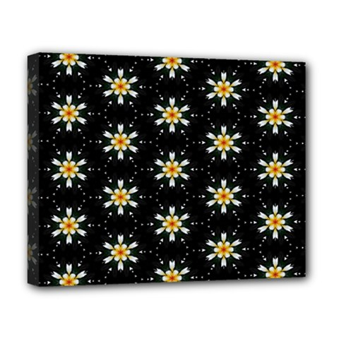 Background For Scrapbooking Or Other With Flower Patterns Deluxe Canvas 20  x 16