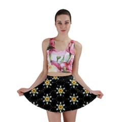 Background For Scrapbooking Or Other With Flower Patterns Mini Skirt