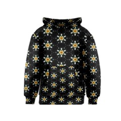 Background For Scrapbooking Or Other With Flower Patterns Kids  Pullover Hoodie