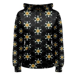 Background For Scrapbooking Or Other With Flower Patterns Women s Pullover Hoodie